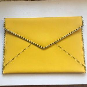 Rebecca Minkoff yellow zipper clutch